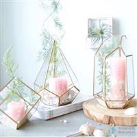 几何玻璃花房风灯灯饰生产加工合作