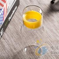 四星中性硼硅玻璃瓶超可爱随身呆呆杯耐热学生玻璃杯