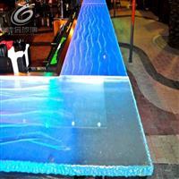 新款LED发光地砖 舞台防滑玻璃地砖 防水防滑