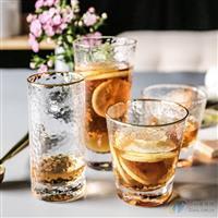 锤目纹透明玻璃杯