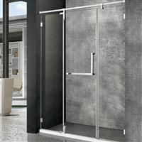 304金色不锈钢卫生间玻璃隔 断简易淋浴房