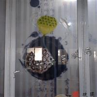 絹畫玻璃 夾絲玻璃