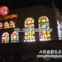 教堂彩繪鑲嵌玻璃教堂彩色玻璃門窗教堂玻璃廠家