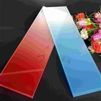 10mm超白红色渐变玻璃生产供应
