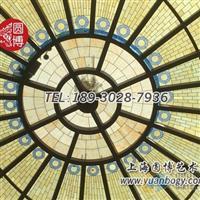 彩色玻璃穹顶彩绘玻璃穹顶蒂凡尼玻璃穹顶定制