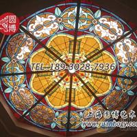 彩色玻璃穹顶彩绘玻璃穹顶厂家上海圆博