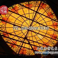 彩色玻璃穹顶彩绘玻璃穹顶设计个性定制