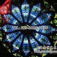 彩色镶嵌玻璃彩绘镶嵌玻璃定制上海圆博