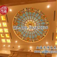 彩色玻璃穹顶彩绘玻璃穹顶定制上海圆博