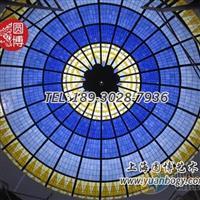 彩色玻璃穹顶彩绘玻璃穹顶穹顶制作厂家圆博玻璃