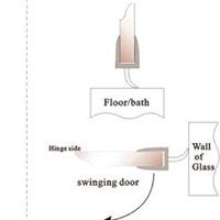 浴室玻璃门PC超透明防水胶条,淋浴房D型挡水胶条