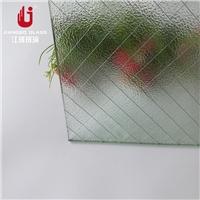 香梨壓花夾鐵絲玻璃 夾鋼絲玻璃