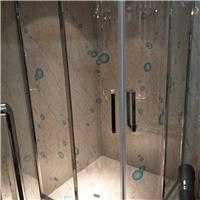 沙河淋浴房夹丝玻璃供应