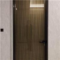 细边钢化玻璃门极简铝合金钢化玻璃平开门