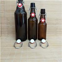 500ml卡扣棕色精酿啤酒玻璃瓶1000ml