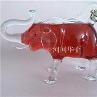 小象造型酒瓶 药材泡酒酒瓶 高硼硅玻璃酒瓶