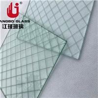 江玻特玻 防盗安全夹铁丝玻璃 夹钢丝玻璃