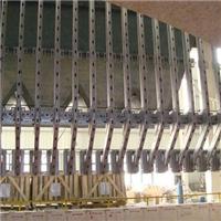 L型吊墻鋼結構安裝玻璃生產線設計
