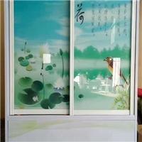 现在流行的玻璃衣柜门印花机