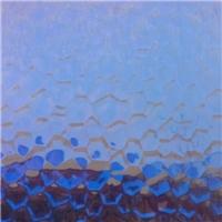 压花镜   蓝色水立方