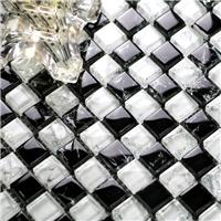 厂家直销冰裂马赛克 玻璃热熔水晶 泳池马赛克耐高温