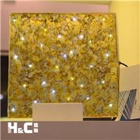 LED發光裝飾玻璃 匯馳夾絲發光玻璃