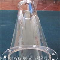 高纯度石英玻璃管法兰打孔 加工 订制
