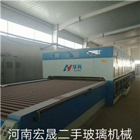 出售九成新華興2440*4200上部風機對流鋼化爐一臺