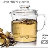 玻璃咖啡壺大容量明火加熱靈芝壺泡菜罐藥壺