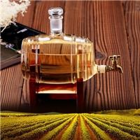 玻璃酒瓶玻璃酒桶带木架