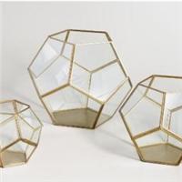 宁波采购-几何形状玻璃烛台