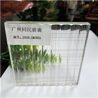 夹丝玻璃 条纹夹丝玻璃 酒店装饰夹绢玻璃