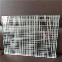 夹胶玻璃 线条格子夹胶工艺玻璃