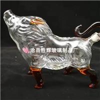 工艺酒瓶生肖猪玻璃酒瓶