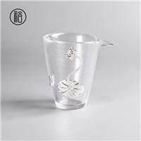 山西美璃镶银荷花创意公道杯