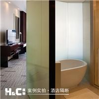 级别高宾馆酒店调光玻璃 汇驰通电透明玻璃