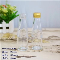 高档100毫升铝盖小酒瓶即食燕窝瓶蜂蜜瓶
