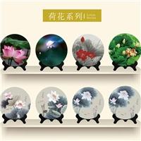 定制高等禮品創意玻璃工藝品圓盤擺件