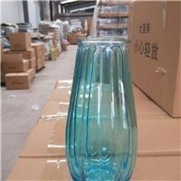 龙蛋竖条纹花瓶玻璃瓶