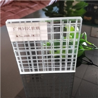 线条格子夹胶玻璃 车刻线条夹胶玻璃