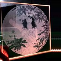 廣州白云導光玻璃內雕玻璃激光內雕玻璃特種玻璃