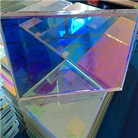 广州变色玻璃炫彩玻璃七彩玻璃夹层安全钢化炫彩玻璃