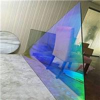 优越炫彩玻璃变色玻璃七彩玻璃广州特种玻璃