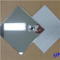 高清鋁鏡磨邊噴砂防爆膜浴室鏡安全鋁鏡