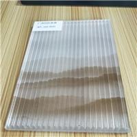 夾山水畫條紋玻璃 條紋玻璃夾絲玻璃