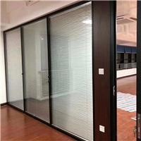 兰州办公室钢化玻璃隔断铝合金百叶门厂家直销