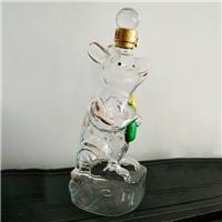 招财老鼠玻璃酒瓶个性吹制鼠型工艺酒瓶