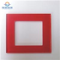 高等定制86型開關面板玻璃,絲印面板鋼化玻璃