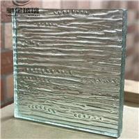 廠家直銷透明水波紋壓花玻璃 熱熔玻璃