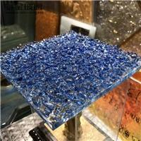 馳金供應彩色熱熔玻璃 透明水紋壓花玻璃